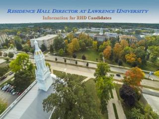 Residence Hall Director at  Lawrence University