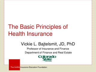 The Basic Principles of  Health Insurance