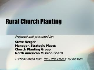 Rural Church Planting