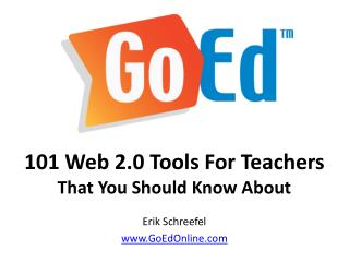 101 Web 2.0 Tools For Teachers  That You Should Know About