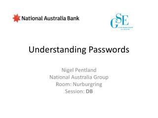 Understanding Passwords