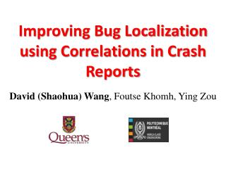 Improving Bug Localization using Correlations in Crash Reports
