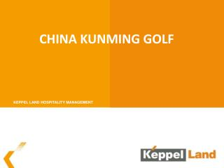 China Kunming golf