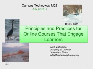 Principles and Practices for Online Courses That Engage Learners