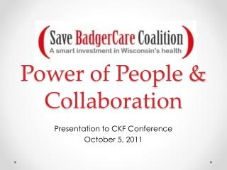 Power of People &  Collaboration