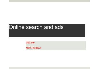 Online search and ads