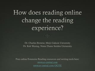 How does reading online change the reading experience?