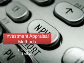 Investment Appraisal Methods