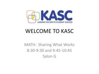 WELCOME TO KASC