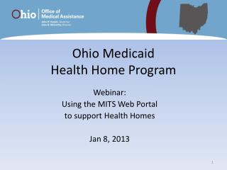 Ohio Medicaid  Health Home Program