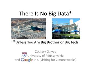 There Is No Big Data*  * Unless You Are Big Brother or Big Tech