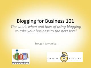 Blogging for Business 101