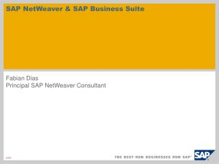 SAP NetWeaver & SAP Business Suite