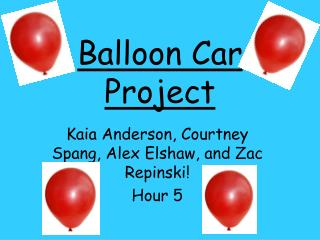 Balloon Car Project