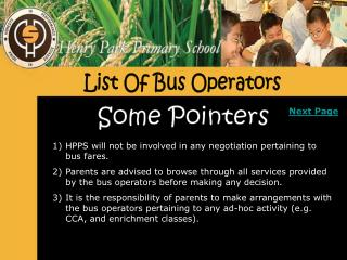 List Of Bus Operators