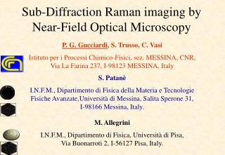 Sub-Diffraction Raman imaging by Near-Field Optical Microscopy