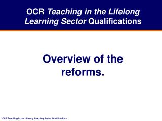 education and lifelong learning sector