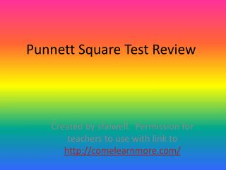 Punnett Square Test Review