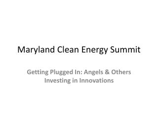 Maryland Clean Energy Summit