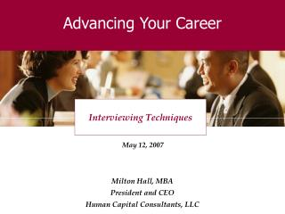 Advancing Your Career