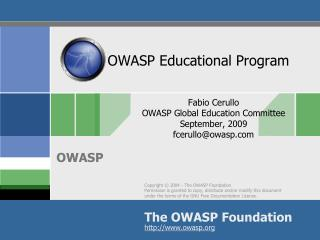 OWASP Educational Program