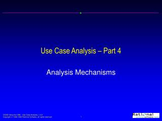 Use Case Analysis – Part 4