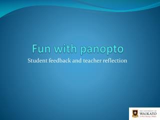 Fun with panopto