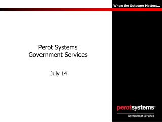 Perot Systems Government Services