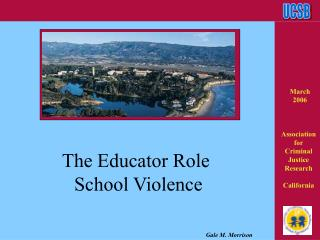The Educator Role   School Violence