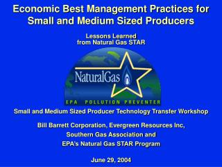 Economic Best Management Practices for Small and Medium Sized Producers