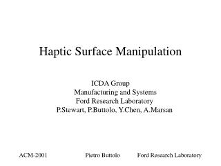 Haptic Surface Manipulation