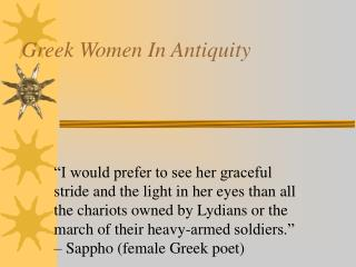 Greek Women In Antiquity