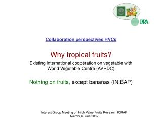 Collaboration perspectives HVCs