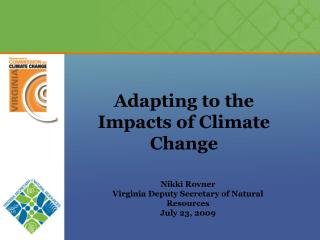 Adapting to the Impacts of Climate Change