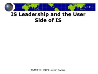 IS Leadership and the User Side of IS