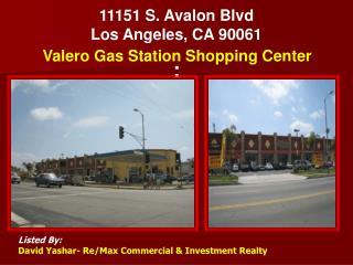 11151 S. Avalon Blvd Los Angeles, CA 90061 :