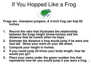 If You Hopped Like a Frog