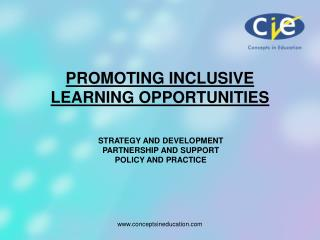 PROMOTING INCLUSIVE LEARNING OPPORTUNITIES