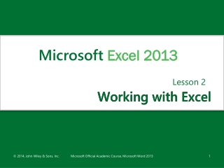 ADVANCED MICROSOFT EXCEL Lesson 10   Using Lists