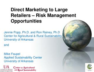 Direct Marketing to Large Retailers – Risk Management Opportunities