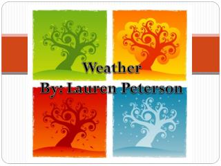 Weather By: Lauren Peterson