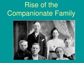 Rise of the Companionate Family