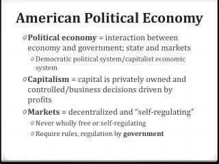 American Political Economy