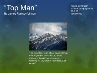 """Top Man"" By James Ramsey Ullman"