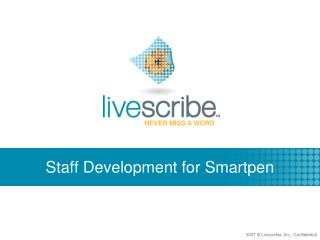 Staff Development for Smartpen