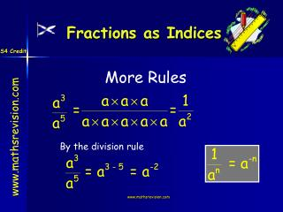 Fractions as Indices