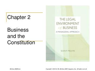 Chapter 2 Business  and the Constitution