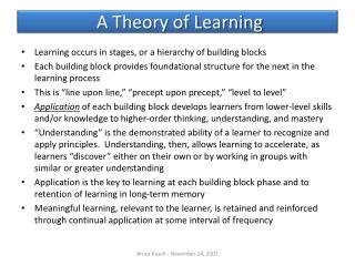 A Theory of Learning