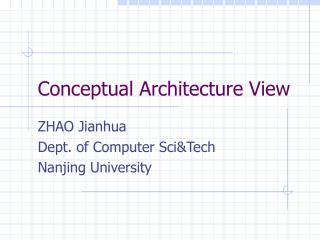 Conceptual Architecture View
