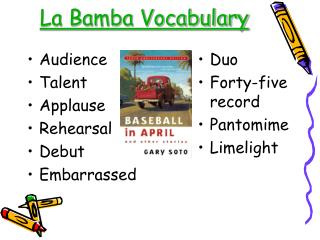 La Bamba Vocabulary
